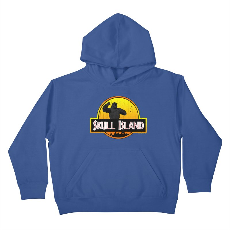 Skull Island Distressed  Kids Pullover Hoody by doombxny's Artist Shop