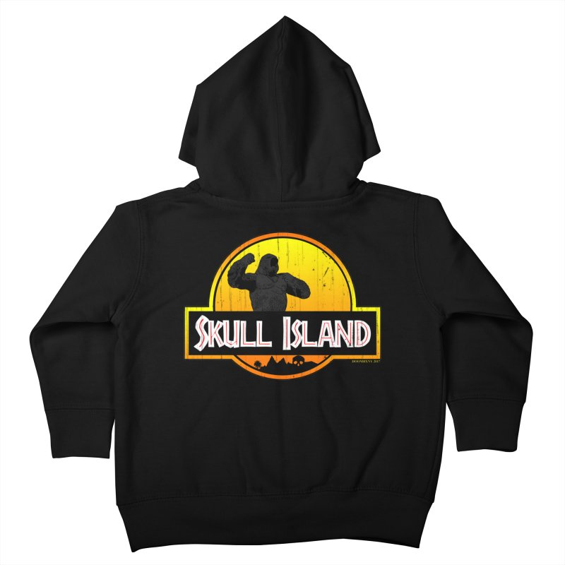 Skull Island Distressed  Kids Toddler Zip-Up Hoody by doombxny's Artist Shop
