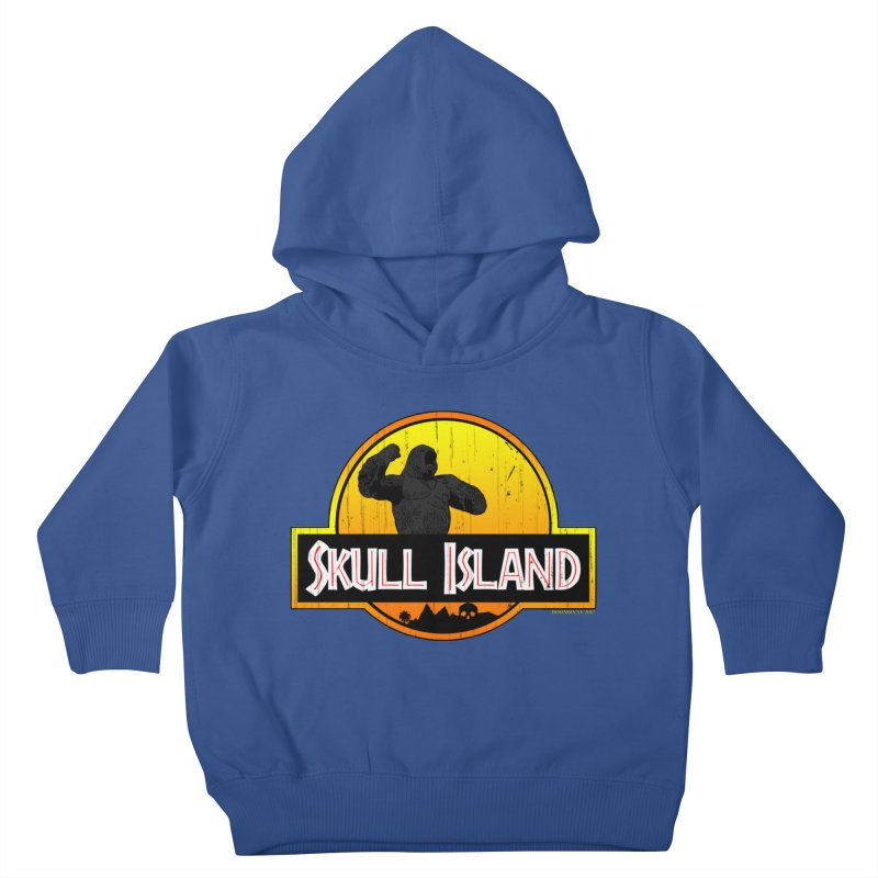 Skull Island Distressed  Kids Toddler Pullover Hoody by doombxny's Artist Shop