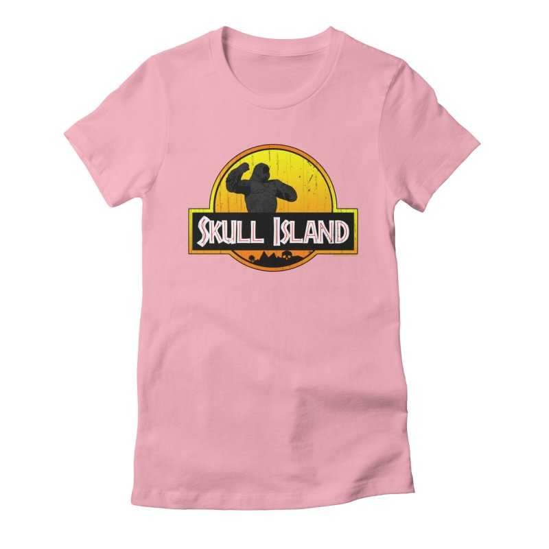 Skull Island Distressed  Women's Fitted T-Shirt by doombxny's Artist Shop