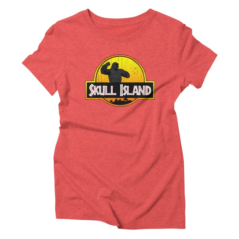 Skull Island Distressed  Women's Triblend T-shirt by doombxny's Artist Shop