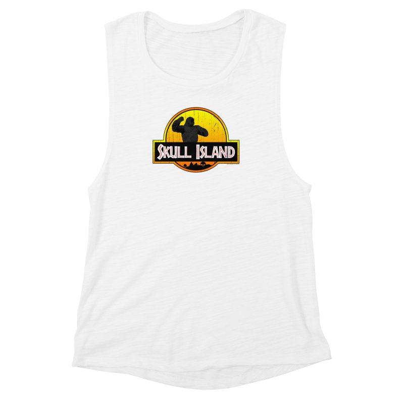 Skull Island Distressed  Women's Muscle Tank by doombxny's Artist Shop