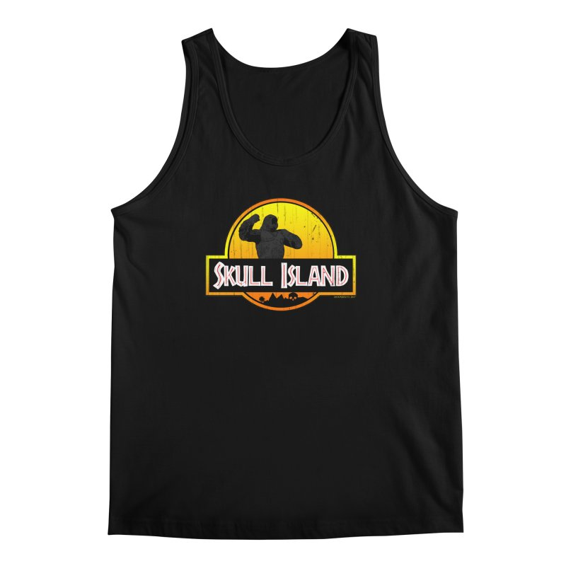 Skull Island Distressed  Men's Tank by doombxny's Artist Shop