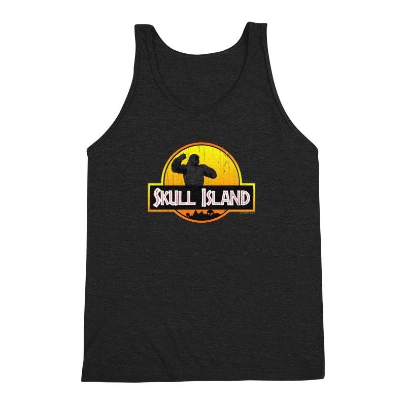 Skull Island Distressed  Men's Triblend Tank by doombxny's Artist Shop