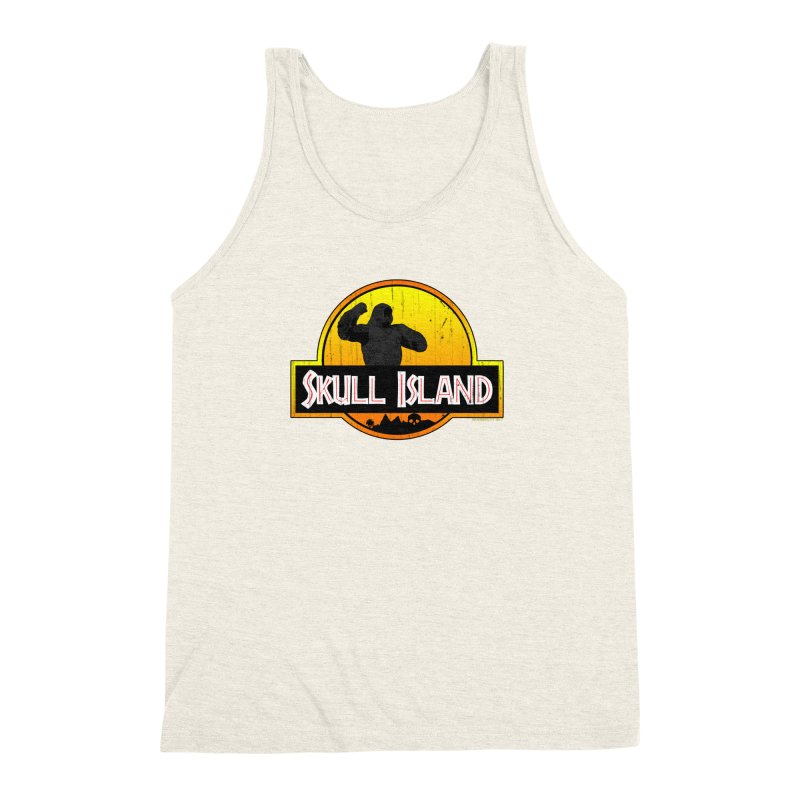 Skull Island Distressed  Men's Triblend Tank by doombxny's Artist Shop