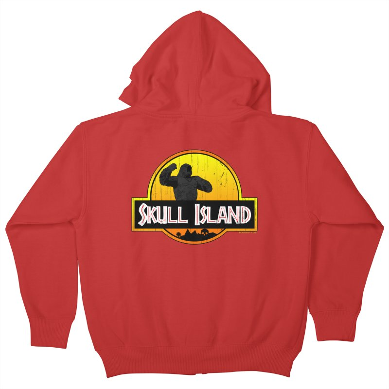 Skull Island Distressed  Kids Zip-Up Hoody by doombxny's Artist Shop