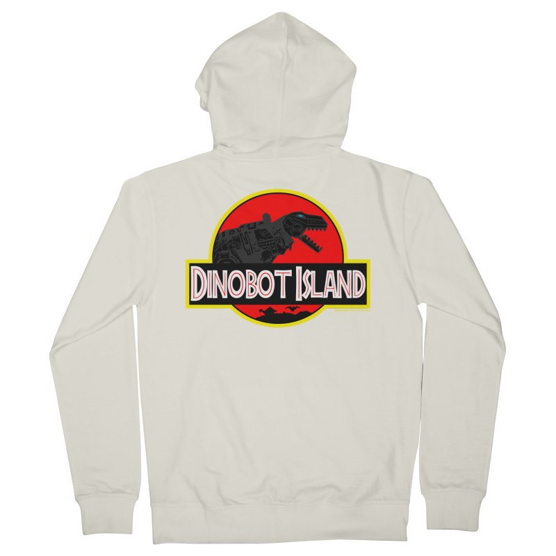 Dinobot Island Women's French Terry Zip-Up Hoody by doombxny's Artist Shop