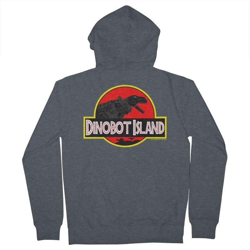 Dinobot Island Men's Zip-Up Hoody by doombxny's Artist Shop