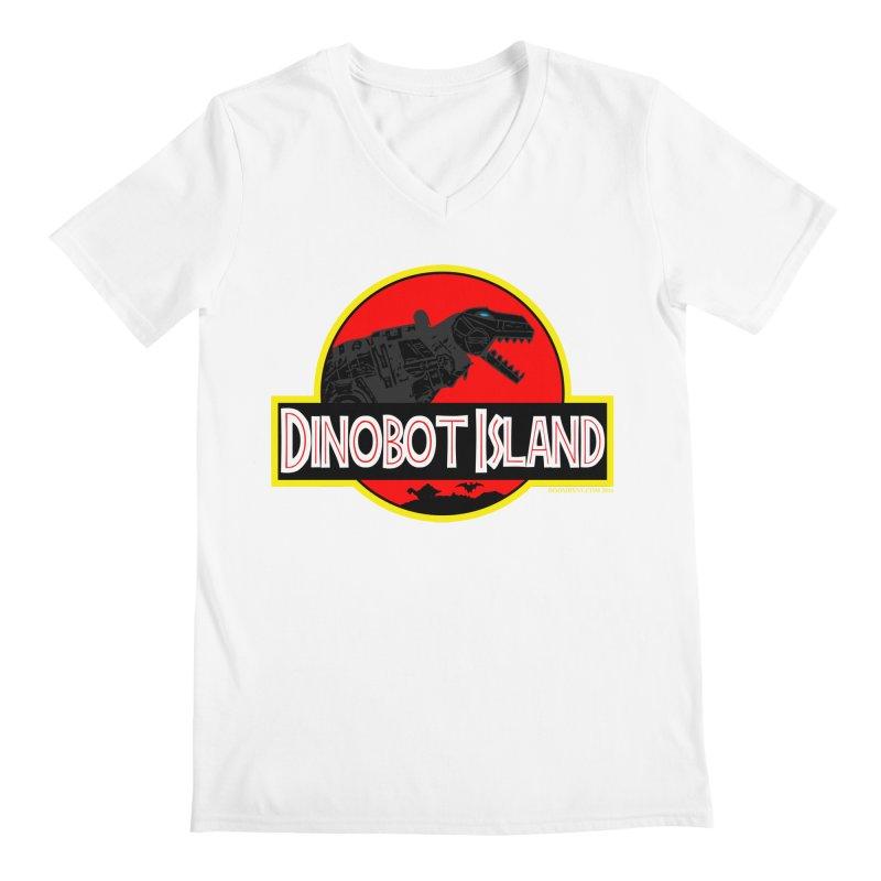 Dinobot Island Men's V-Neck by doombxny's Artist Shop