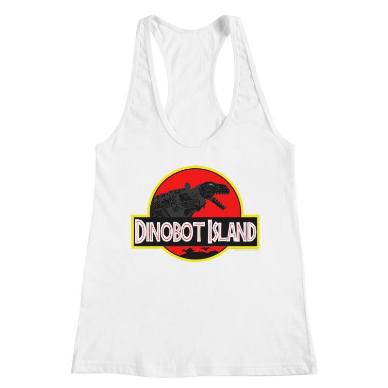 Dinobot Island Women's Racerback Tank by doombxny's Artist Shop