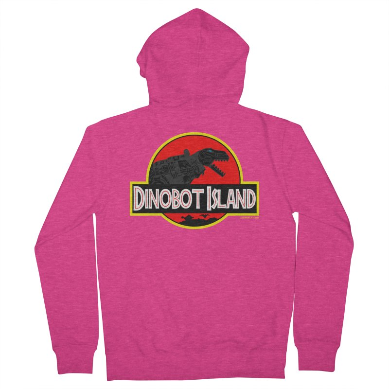 Dinobot Island Women's Zip-Up Hoody by doombxny's Artist Shop