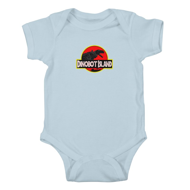 Dinobot Island Kids Baby Bodysuit by doombxny's Artist Shop
