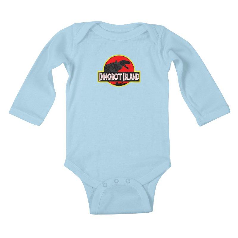 Dinobot Island Kids Baby Longsleeve Bodysuit by doombxny's Artist Shop