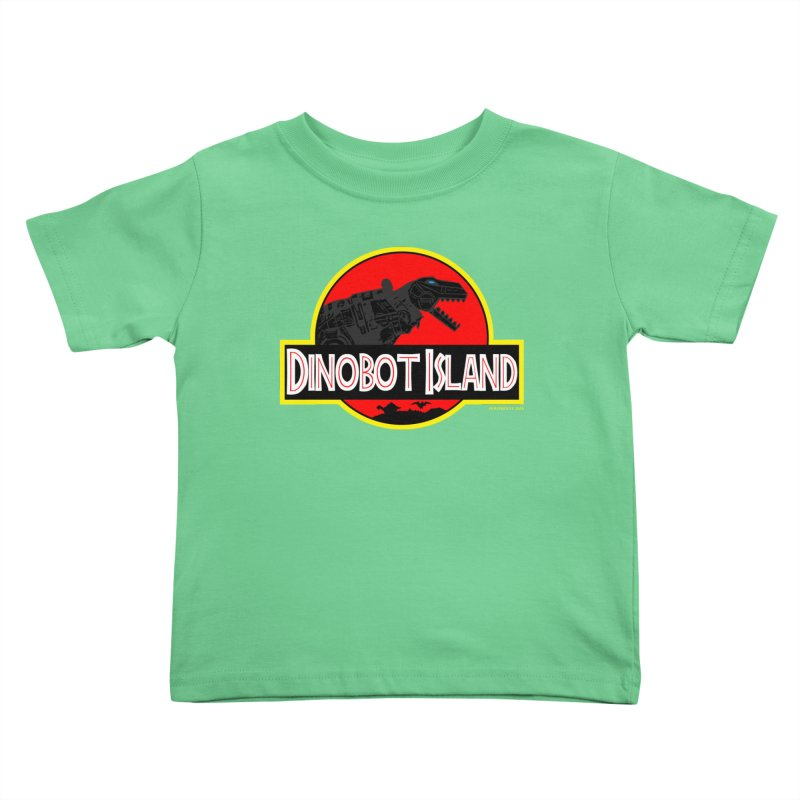 Dinobot Island Kids Toddler T-Shirt by doombxny's Artist Shop