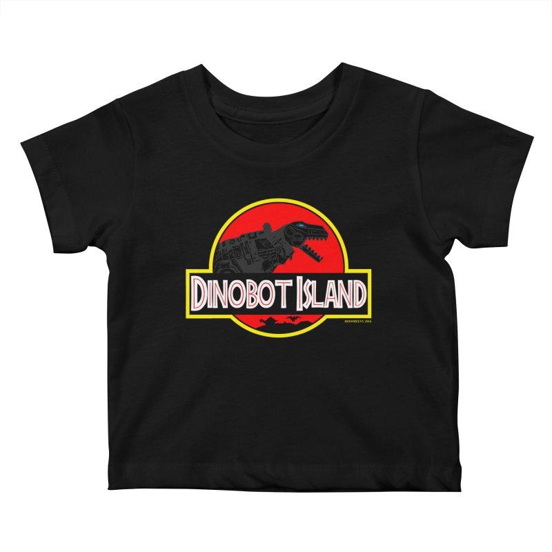 Dinobot Island Kids Baby T-Shirt by doombxny's Artist Shop
