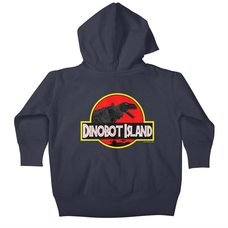 Dinobot Island Kids Baby Zip-Up Hoody by doombxny's Artist Shop