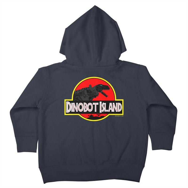 Dinobot Island Kids Toddler Zip-Up Hoody by doombxny's Artist Shop