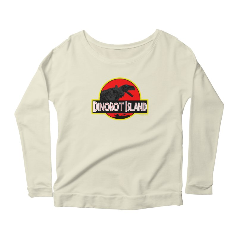 Dinobot Island Women's Longsleeve Scoopneck  by doombxny's Artist Shop