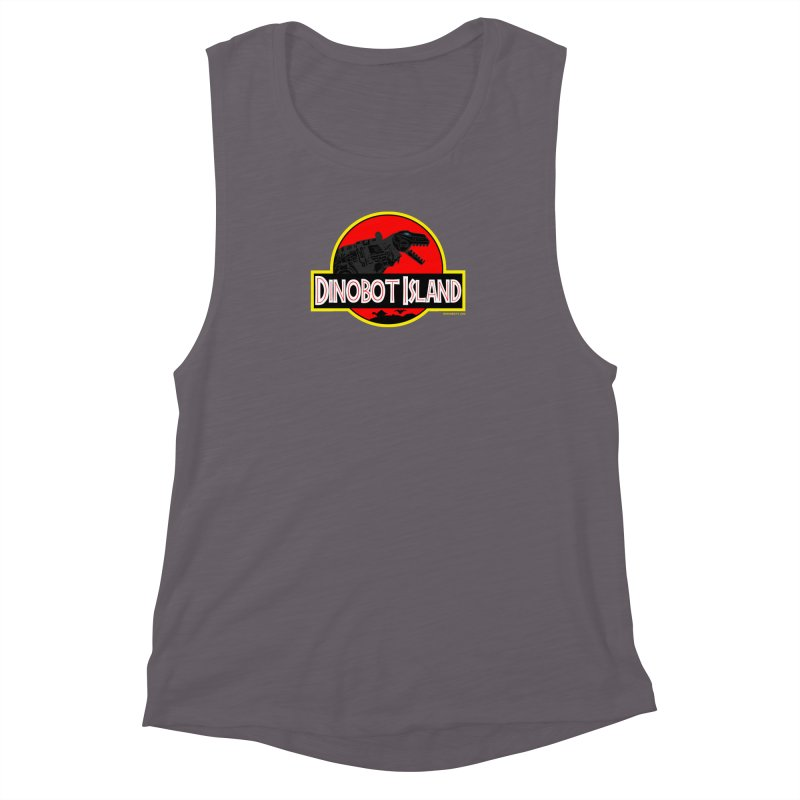 Dinobot Island Women's Muscle Tank by doombxny's Artist Shop