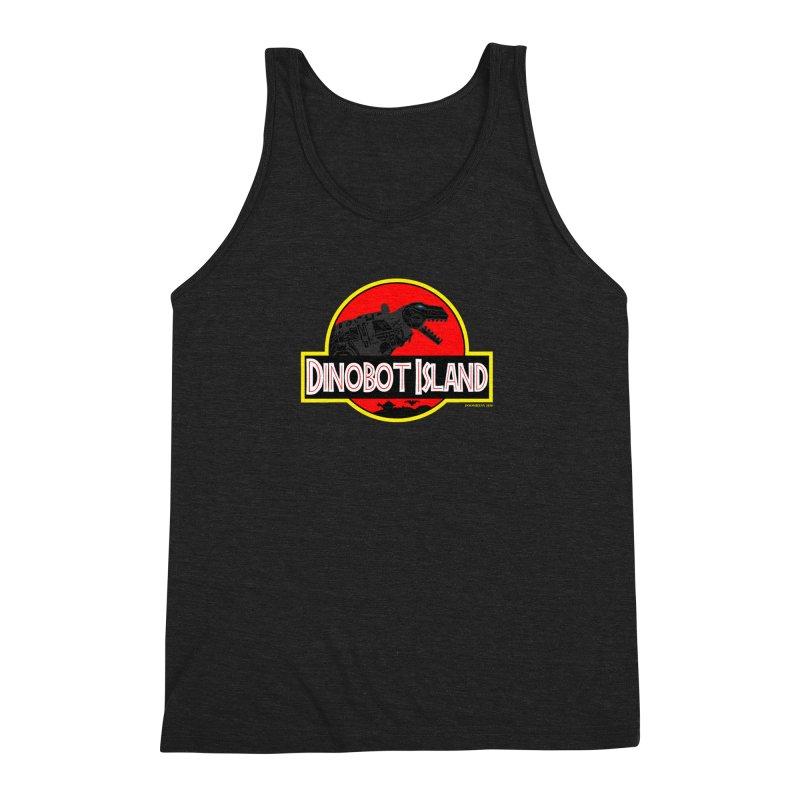 Dinobot Island Men's Triblend Tank by doombxny's Artist Shop