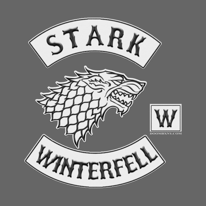 House Stark Biker Patch  Kids Toddler T-Shirt by doombxny's Artist Shop