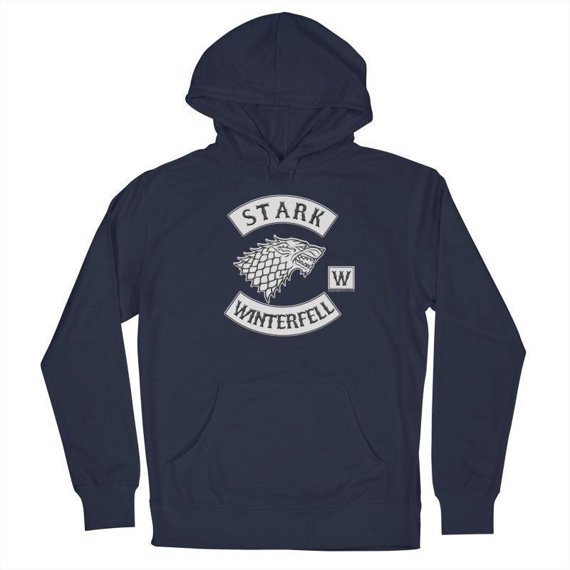 House Stark Biker Patch  Men's Pullover Hoody by doombxny's Artist Shop