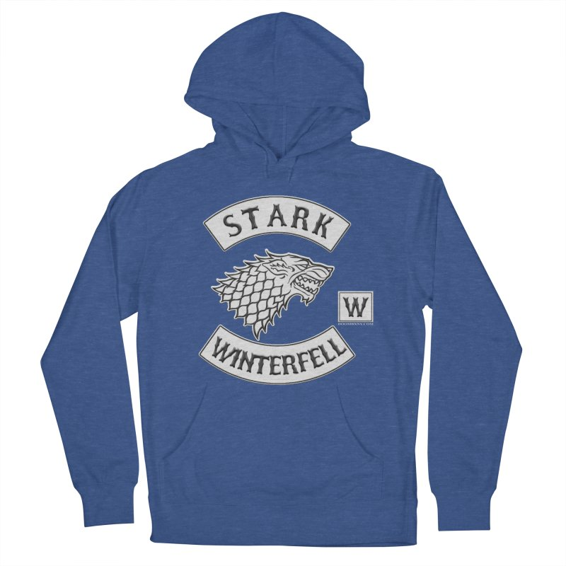 House Stark Biker Patch  Women's French Terry Pullover Hoody by doombxny's Artist Shop