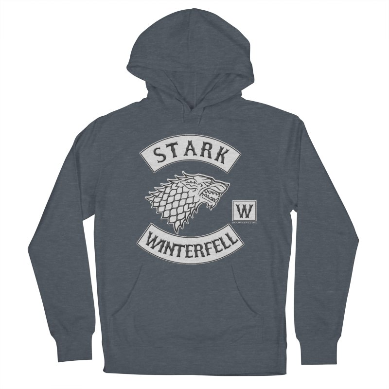 House Stark Biker Patch  Women's Pullover Hoody by doombxny's Artist Shop