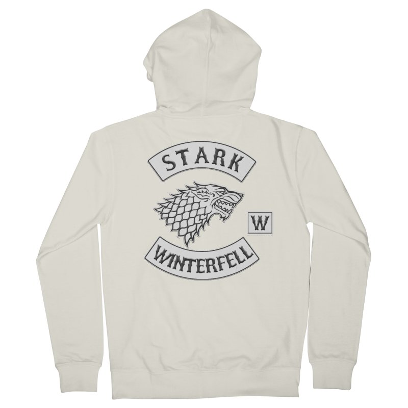 House Stark Biker Patch  Men's Zip-Up Hoody by doombxny's Artist Shop