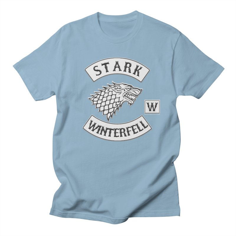 House Stark Biker Patch  Men's T-Shirt by doombxny's Artist Shop