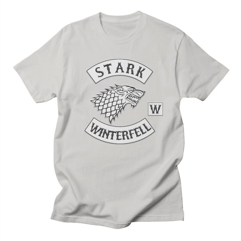 House Stark Biker Patch  Men's T-Shirt by doombxny's Artist Shop