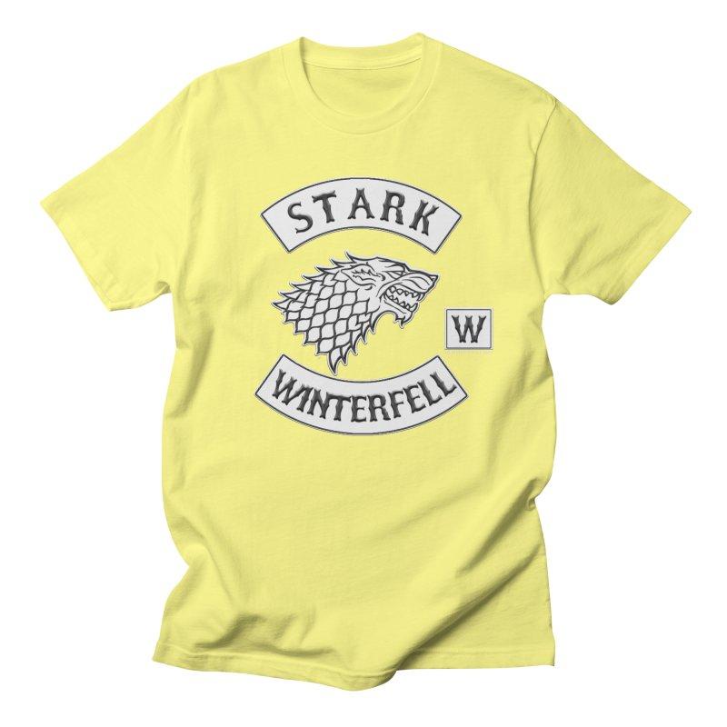 House Stark Biker Patch  Women's Unisex T-Shirt by doombxny's Artist Shop
