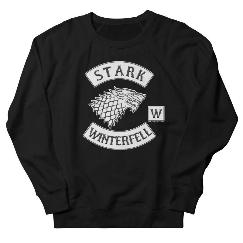 House Stark Biker Patch  Women's Sweatshirt by doombxny's Artist Shop