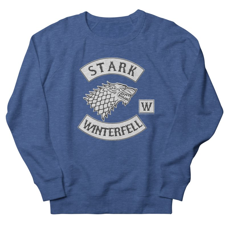 House Stark Biker Patch  Men's Sweatshirt by doombxny's Artist Shop