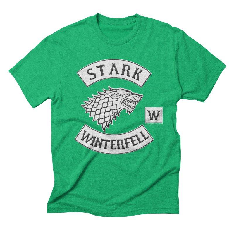 House Stark Biker Patch  Men's Triblend T-shirt by doombxny's Artist Shop