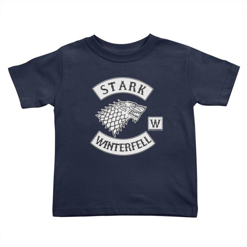 House Stark Biker Patch  Kids Toddler T-Shirt by doombxny's Artist Shop