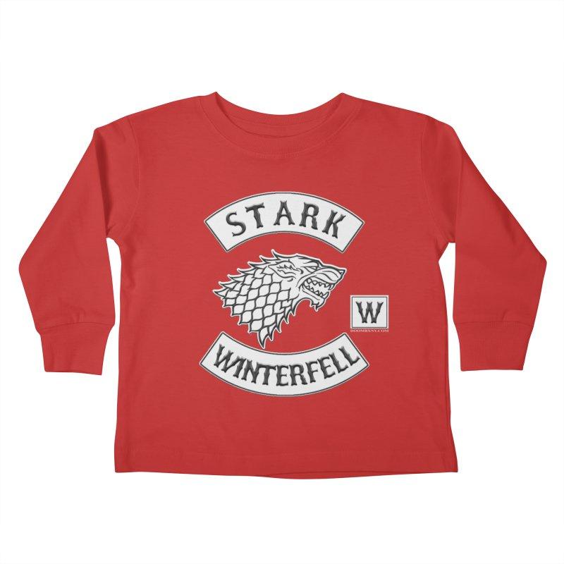 House Stark Biker Patch  Kids Toddler Longsleeve T-Shirt by doombxny's Artist Shop