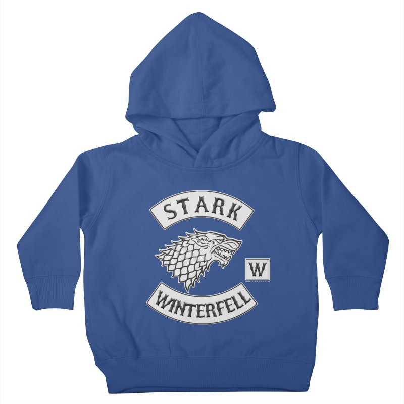 House Stark Biker Patch  Kids Toddler Pullover Hoody by doombxny's Artist Shop