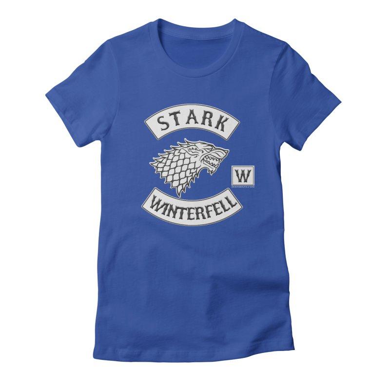 House Stark Biker Patch  Women's T-Shirt by doombxny's Artist Shop