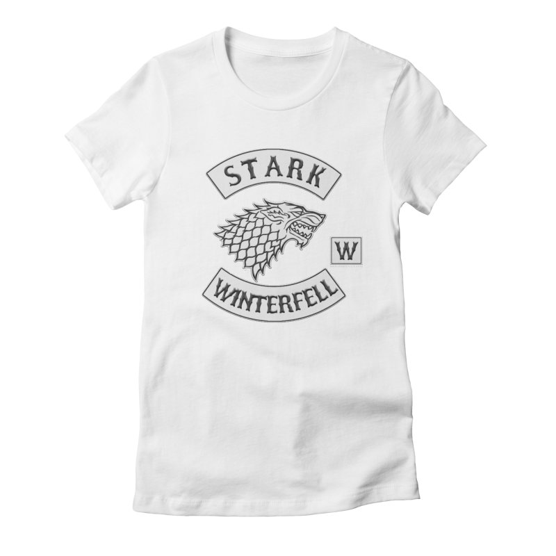 House Stark Biker Patch  Women's T-Shirt by doombxny's Artist Shop