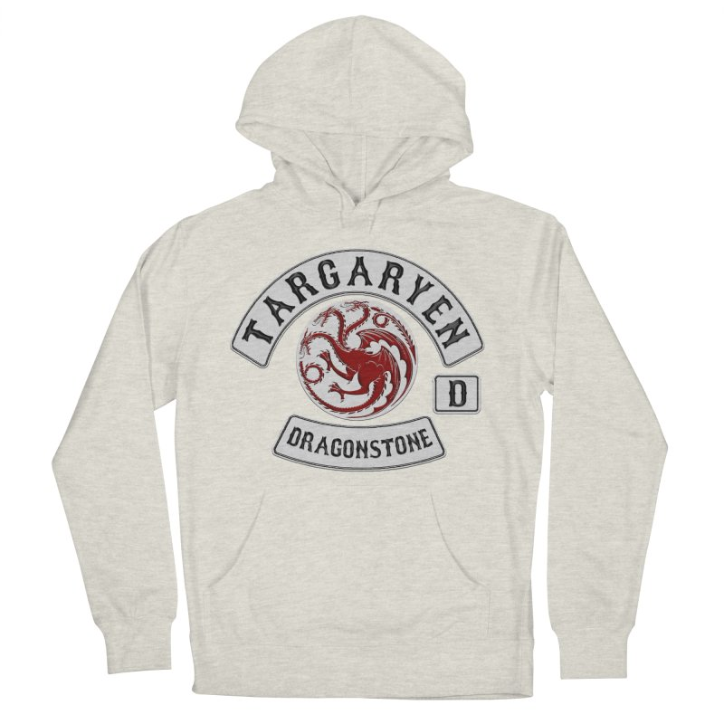 House Targaryen Biker patch Women's French Terry Pullover Hoody by doombxny's Artist Shop