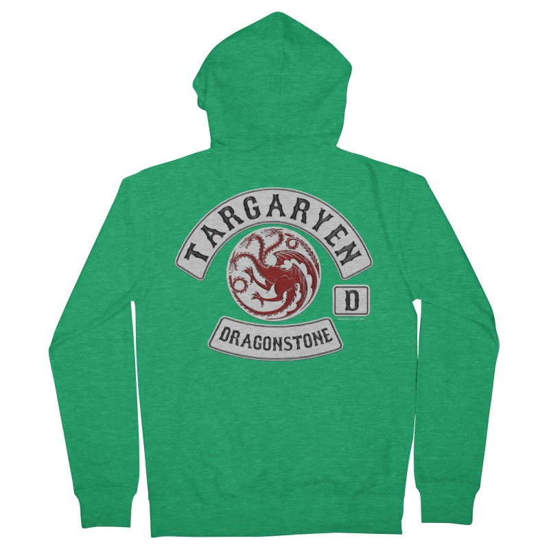 House Targaryen Biker patch Women's Zip-Up Hoody by doombxny's Artist Shop