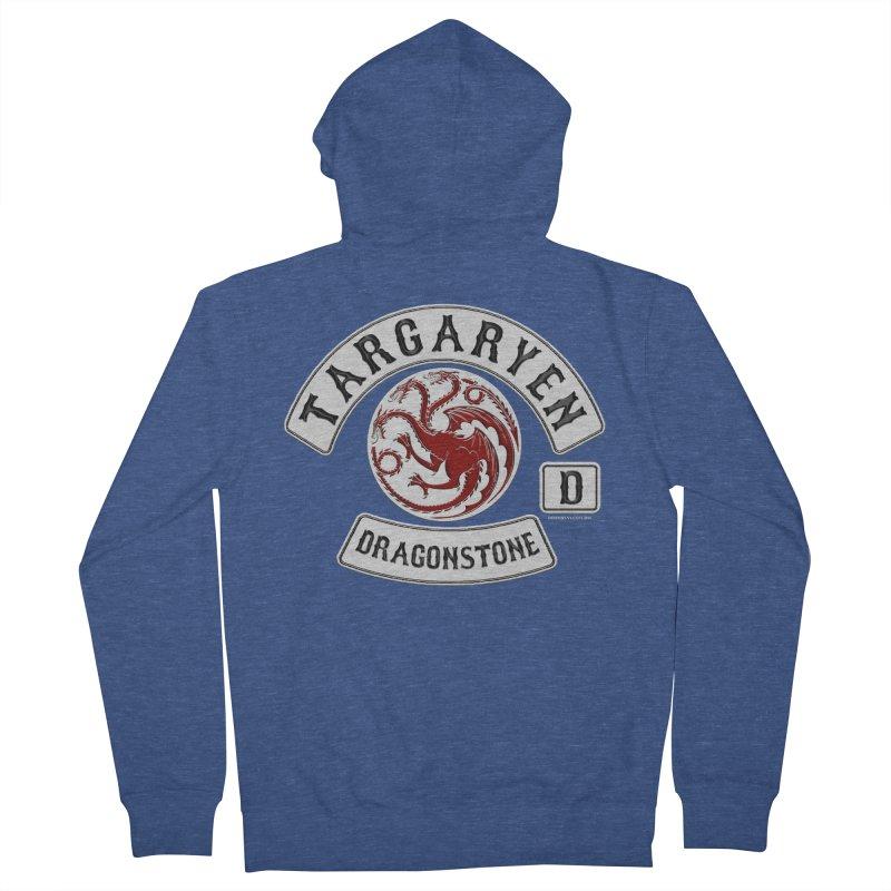 House Targaryen Biker patch Men's Zip-Up Hoody by doombxny's Artist Shop