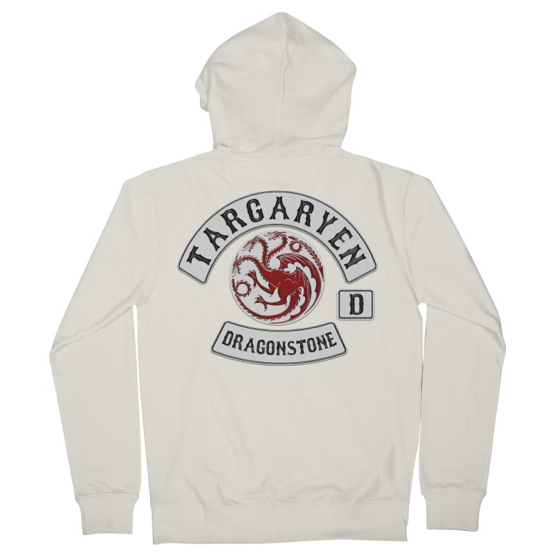 House Targaryen Biker patch Men's Zip-Up Hoody by doombxny's Artist Shop