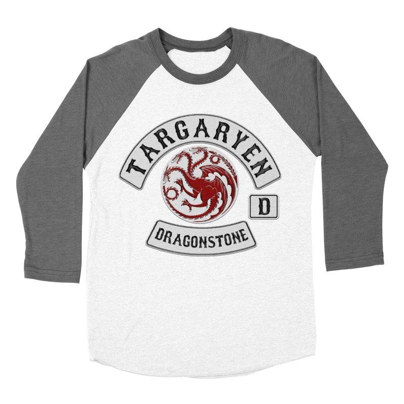 House Targaryen Biker patch Men's Baseball Triblend T-Shirt by doombxny's Artist Shop