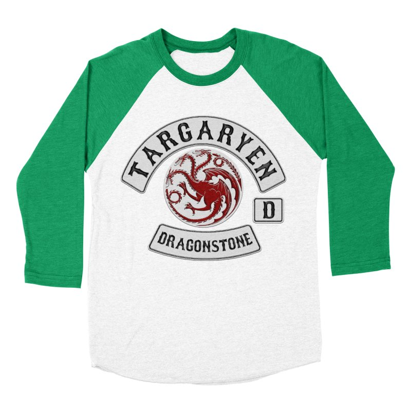 House Targaryen Biker patch Men's Baseball Triblend T-Shirt by doombxny's Artist Shop