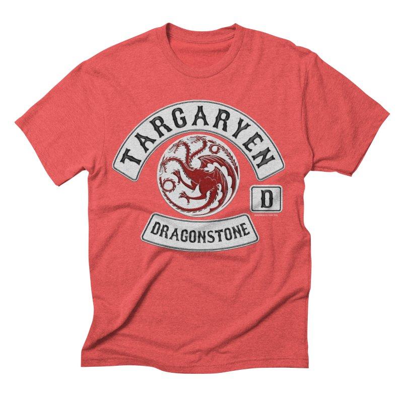 House Targaryen Biker patch Men's Triblend T-shirt by doombxny's Artist Shop