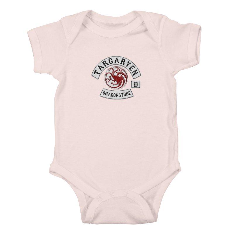 House Targaryen Biker patch Kids Baby Bodysuit by doombxny's Artist Shop