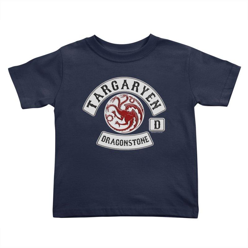 House Targaryen Biker patch Kids Toddler T-Shirt by doombxny's Artist Shop