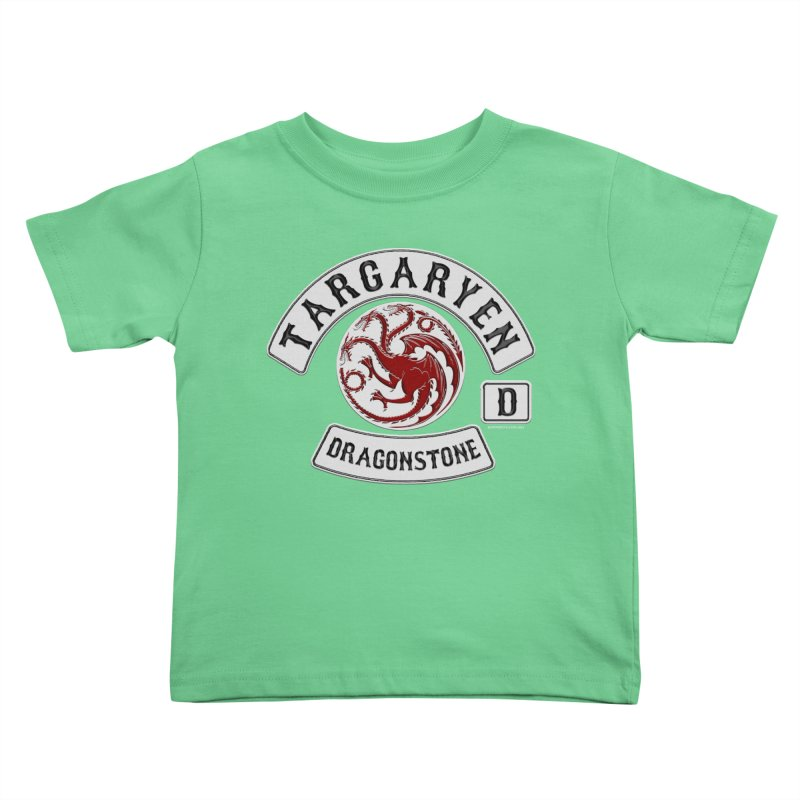 House Targaryen Biker patch Kids Toddler T-Shirt by doombxny's Artist Shop